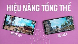So sánh hiệu năng Galaxy Note 10+ và iPhone Xs Max