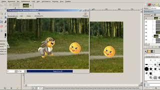 анимация GIMP  - урок  2 (работа с группами слоев)