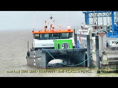 SURE STAR 2HAL2 IMO 9698903 offshore crew boat Emden Germany