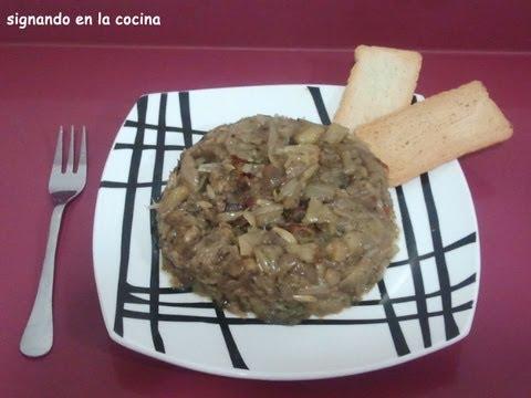 Receta de » Morcilla de verano (vegetariana)» en Lengua de Signos