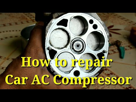 How to repair car AC Compressor