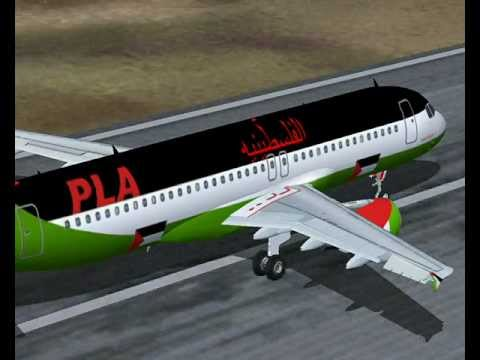 Palestinian Airways A320-200 Takeoff From Gaza Farton videos