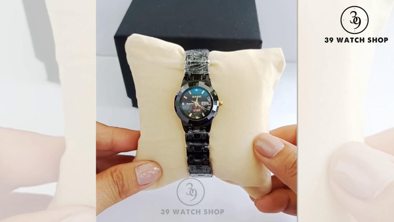 Đồng hồ Rado nữ dây đá màu đen siêu đẹp RA42NUMD
