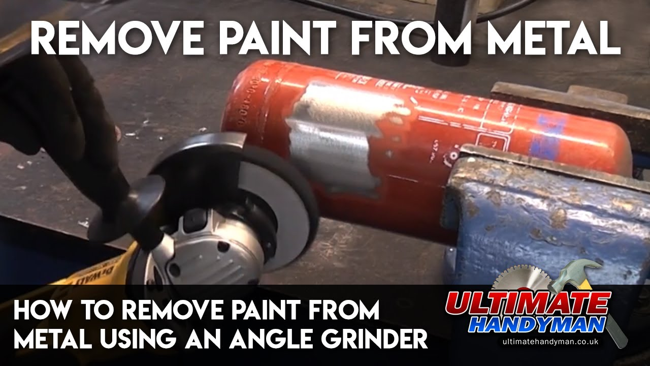 How To Remove Paint From Metal Using An Angle Grinder Youtube