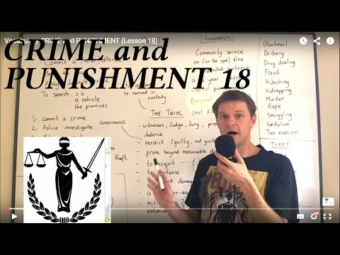 Vocabulary CRIME and PUNISHMENT Lesson 18