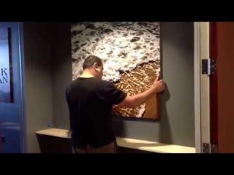 HD metal dye sublimation aluminum fine art photo installation in foyer of Mack Urban