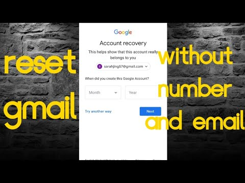 How to reset gmail password without phone number and email