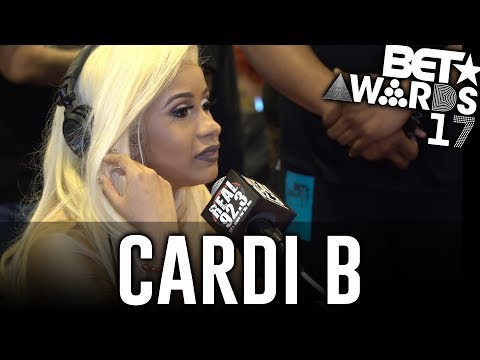 Cardi B in The BET Awards Radio Room w/ Dj A-Oh