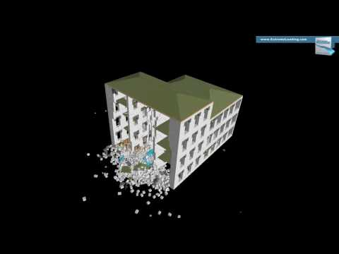 INACHUS - Structural Analysis of a Historic building, Explosion scenario, Location 2
