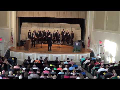 Mary Persons High Men's Chorus sings