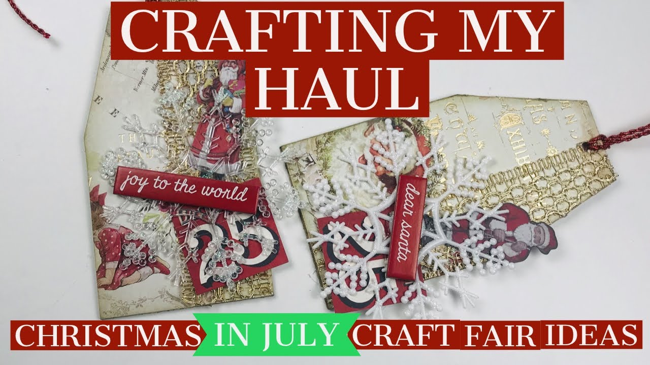 Christmas In July Gift Tags.Crafting My Christmas In July Haul Craft Fair Ideas Beautiful Gift Tags Using Your Scraps