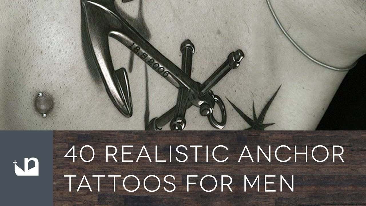40 Realistic Anchor Tattoo Designs For Men – Manly Ink Ideas