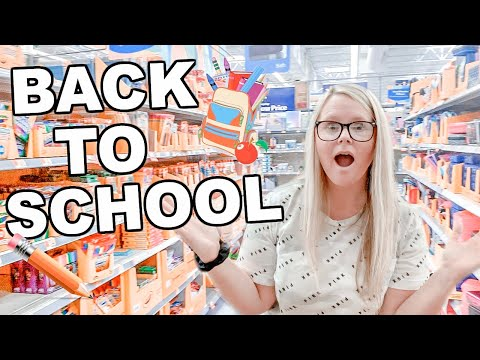 WALMART SHOP WITH ME // BACK TO SCHOOL  2019