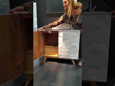 Bianchini capponi mobile bagno con ammoniti art mobili