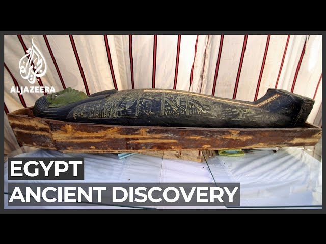Egypt unveils 3,000-year-old coffins at Saqqara necropolis