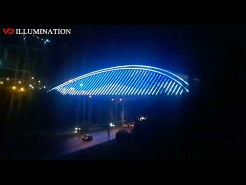YD 30mm pixel light used in Turkey Istanbul Bridge lighting