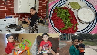 #Daily Vlog- Indian Mom Weekday Morning Routine | Breakfast, Lunch, Cleaning| Real Homemaking