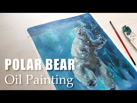 Polar Bear - Oil painting