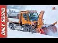 NEW UNIMOG U430 SNOW REMOVAL 2017 - FIRST SNOW TEST DRIVE ONLY SOUND