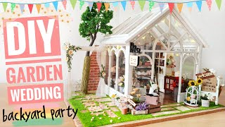 I really love this rustic-looking doll house kit! And thought it would be great if there is a wedding there! So I did some modifications and added on some new ...