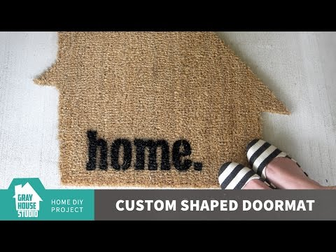 How to Make a Personalized Door Mat - Cut a Doormat WITHOUT