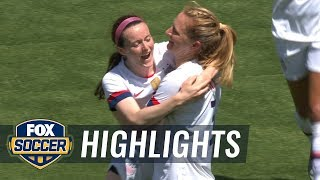Sam Mewis gives USWNT 1-0 lead against South Africa | Women's International Friendly Highlights