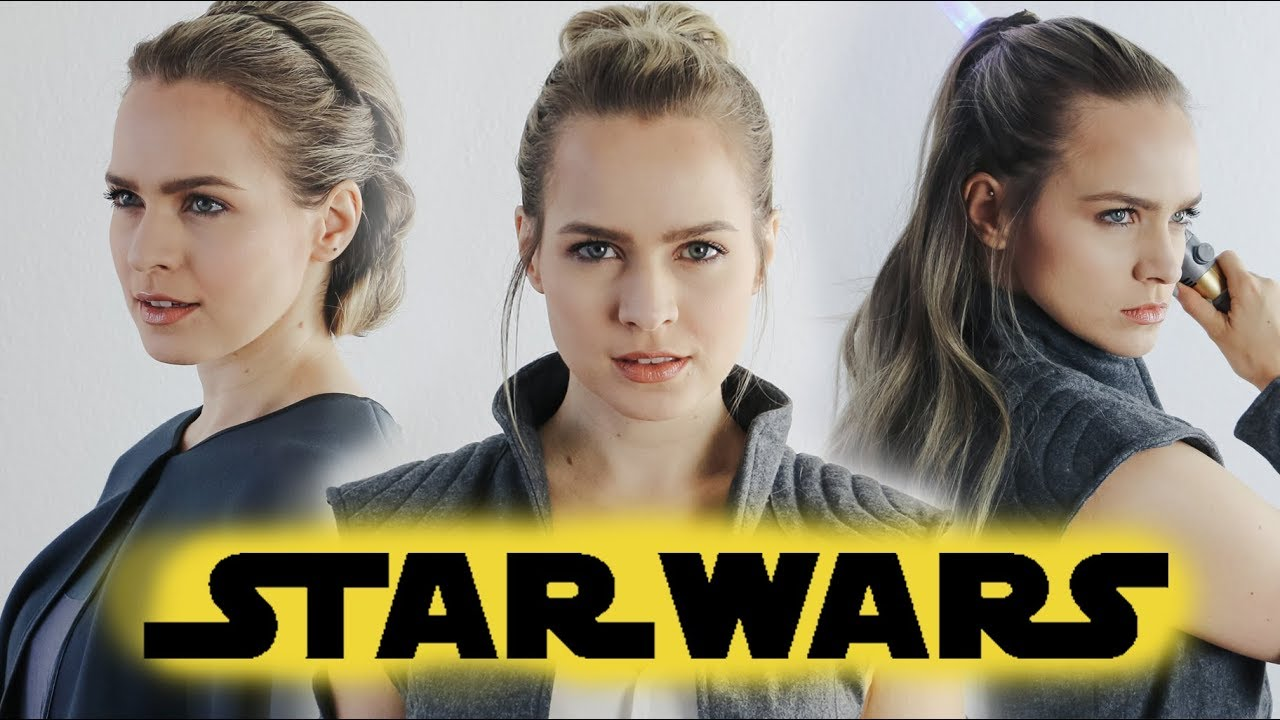 Star Wars The Last Jedi Hairstyles Tutorial Rey General Leia