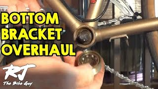 how to overhaul a bike bottom bracket remove clean install new bearings