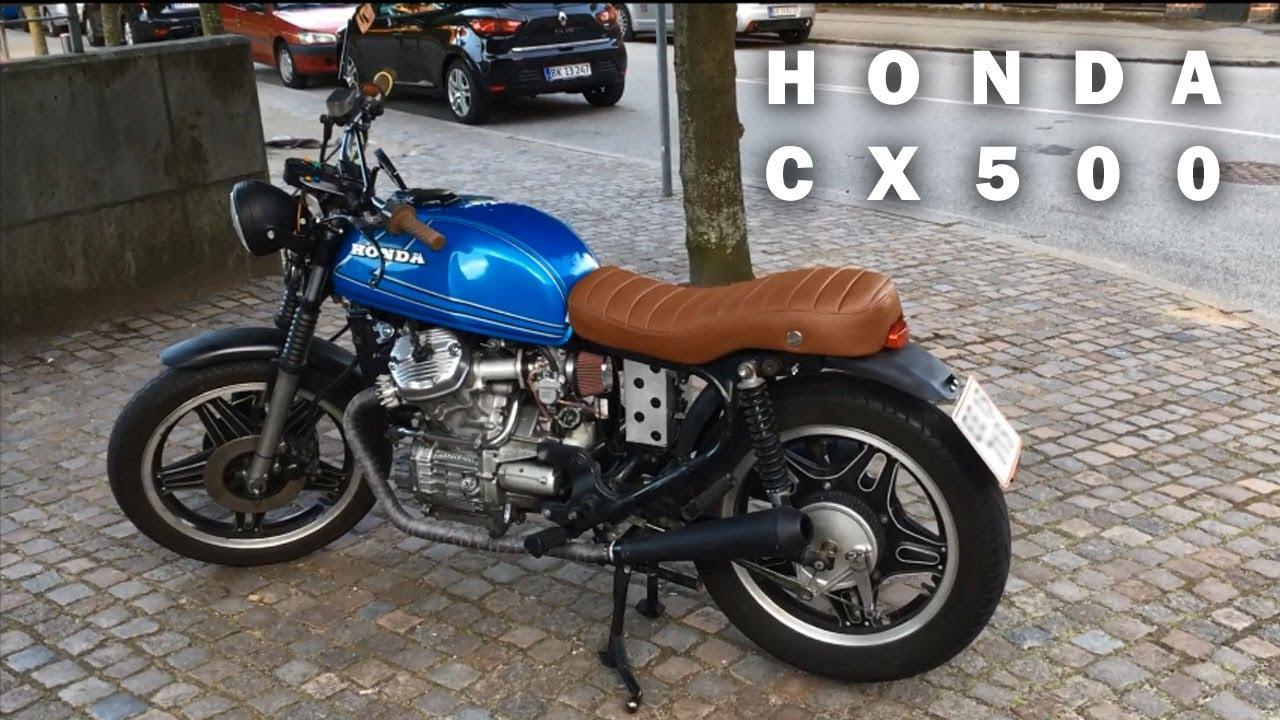 Honda CX 500 Blue Caferacer Scrambler Brat Build 1980 Walkaround