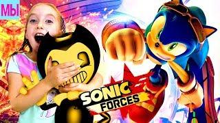 - Бенди спасает Соника Игра про Соника Sonic Forces Новые приключения Соника Мультик Видео для детей