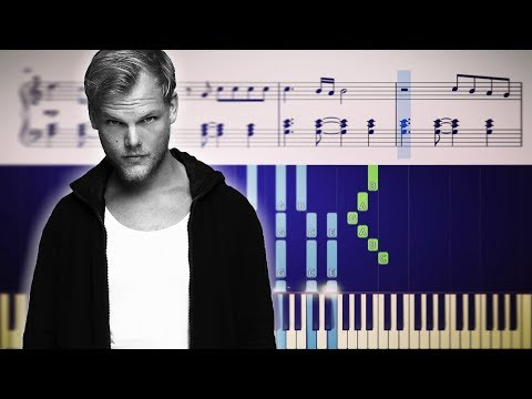 Avicii - SOS ft Aloe Blacc - Piano Tutorial + SHEETS
