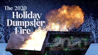 A Relaxing 2020 Holiday Dumpster Fire 🔥 10 HOURS 🔥Yule Log