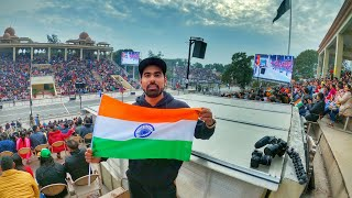 My first visit to INDIA - PAKISTAN BORDER | wagah border 😱