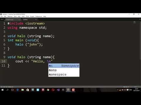 Metode Fungsi Menggunakan bahasa C++