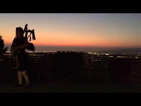 Robert Burns Night -- Bagpipes Going Off!