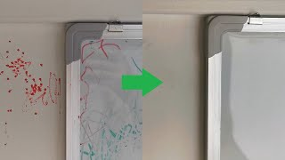 How to remove non permanent dry erase whiteboard marker from the wall and other surfaces 🖊️