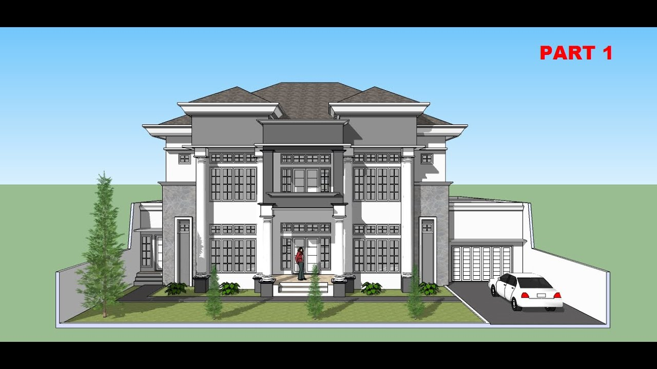 Sketchup tutorial house building design part 1 youtube - When building a house ...