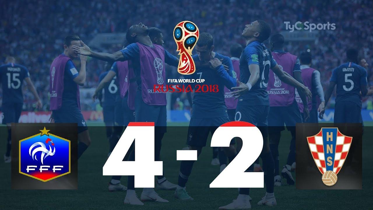 Highlights Francia vs Croacia #TyCSportsMundial