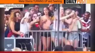 Obama's daughter caught in camera smoking weed