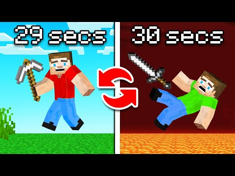 Hunters VS Speedrunner BUT You Switch Places Every 30 SECONDS! (Minecraft)
