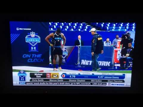Michael Sam 40 Yard Dash NFL Combine 2014