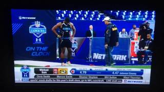 Michael Sam 40 Yard Dash NFL Combine 2014