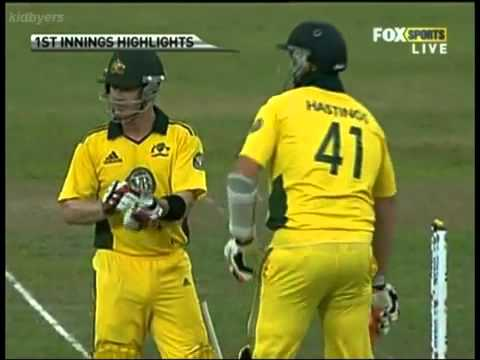 Lasith Malinga's 3rd Hat-Trick in ODI Cricket vs Australia 2011 HQ