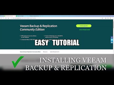 How to Install Veeam Backup & Replication Community Edition.
