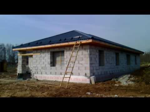 Строительство одноэтажного жилого дома из газосиликатного блока.