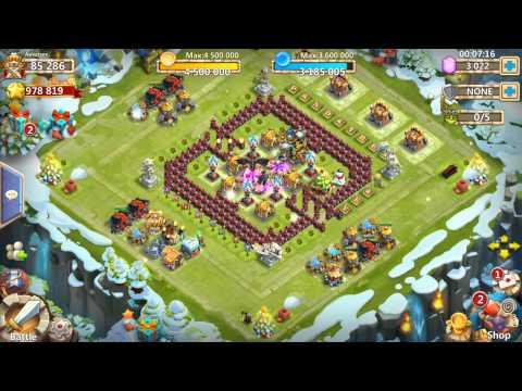 Castle Clash: Santa Boom 7/9 Skill!  KABOOM!