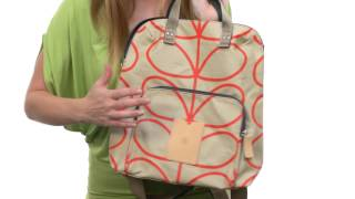 Orla Kiely Matt Laminated Giant Linear Stem Print Backpack Tote SKU:8556401