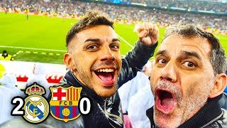 REAL MADRID 2-0 BARCELONA *REACCIONANDO CON MI PADRE*