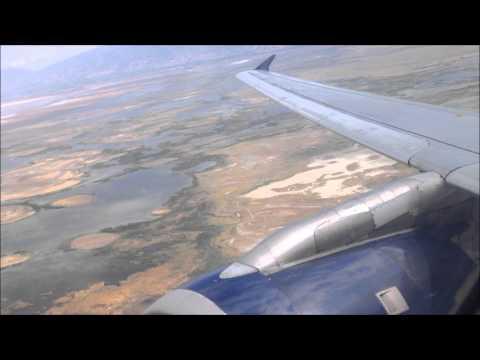 Delta A320 Salt Lake City - Phoenix (Takeoff & Landing)