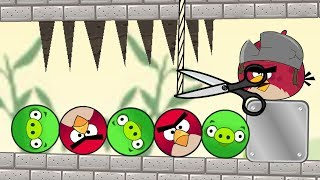 Angry Birds Pigs Out - TERENCE DROP SPIKE TO RESCUE ROUND BIRDS FROM ROUND PIG!